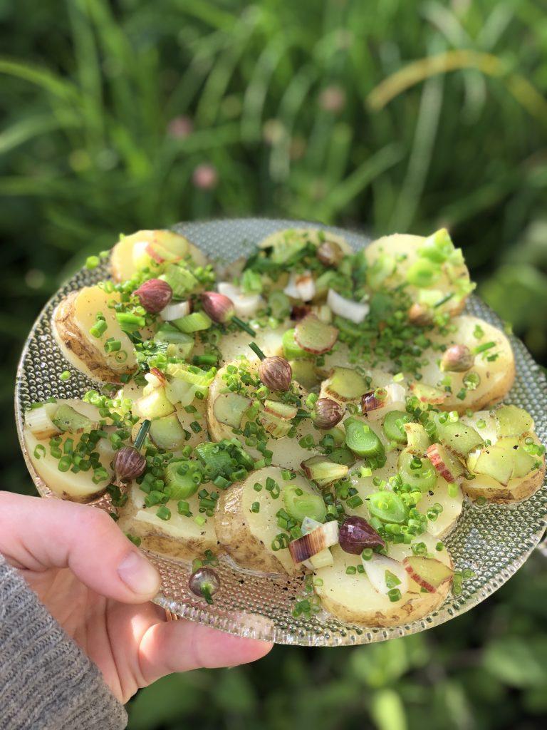Recept på sommarens potatis med gräslök